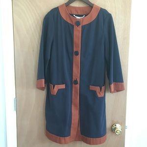 Diane Von Furstenberg three quarter sleeve coat
